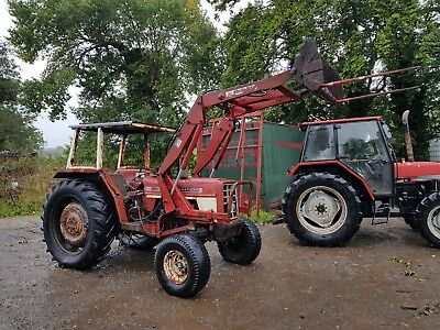 international tractor with quickie loader bale spike can deliver no reserve