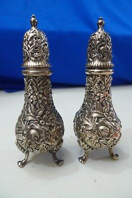 pr Sterling S KIRK & SON Salt & Pepper Shakers REPOUSSE no.58 - NICE