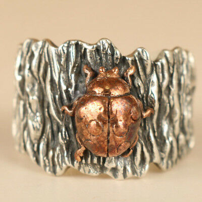 limited edition Fashion fine 925 silver beetle alternative personality ring