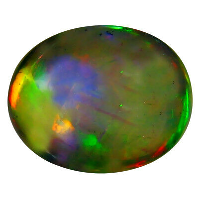1.70 Ct AAA Incroyable Ovale Cabochon Forme ( X 10 8 mm) Opale Noire Pierre