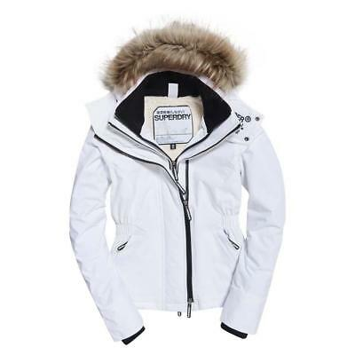 Superdry Hooded Fur Winter Windattacker White , Abrigos y parkas Superdry , moda