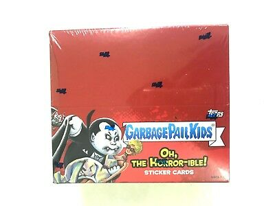 2018 Topps Garbage Pail Kids Oh, The Horror-Ible Sticker Card Box