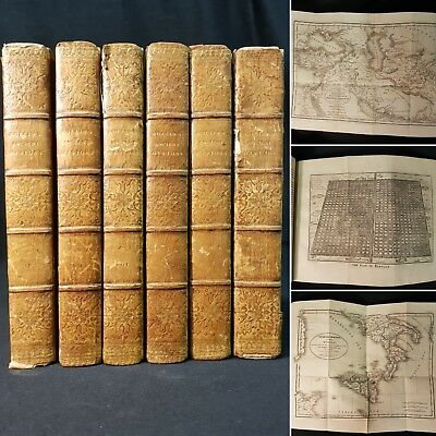 1821 Ancient History 6v (of 8) ROLLIN Egyptians MAPS Carthaginians ASSYRIANS