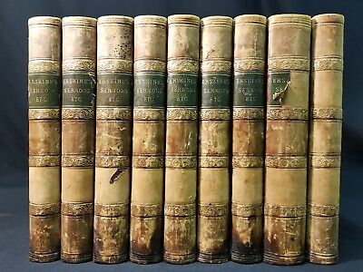 1821 SERMONS Practical Works RALPH ERSKINE 9 vol (Out of 10) POETICAL Pieces