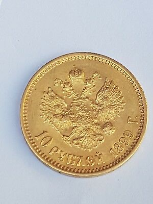 Russian empire Gold 10 roubles 1899