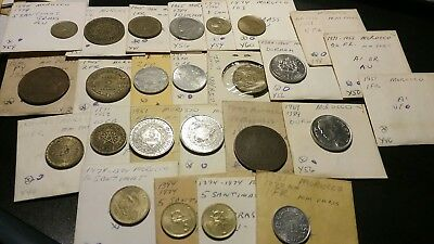 Lot Of 25 Morocco Coins.....francs,santimats ,mazunas And More