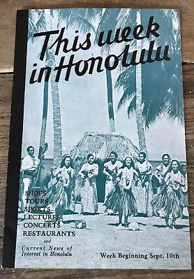 1939 Sept 10th - Rare THIS WEEK HONOLULU Magazine Guide Ads