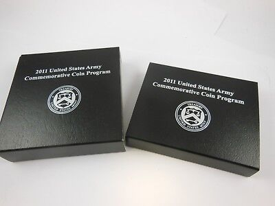 2011-S US Army Commemorative Silver Dollar & Half Dollar Proofs