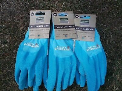 Town & Country Thorn Resistant Master Gardener Gloves M. size 8 x 3 Pairs Blue