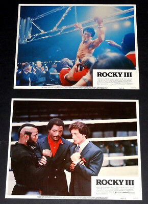 ROCKY III set of 2 orig 1982 Lob Cds (#6,8) SYLVESTER Stallone, MR. T action