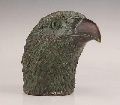 Big Rare Antique Big Bronze Hand Solid Carved Eagle Statue Figure Collectable