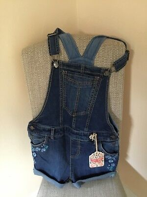Girls Denim Blue Shorts Dungarees - Fat Face - Age 10/11 years - New with tags