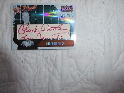 Chuck Woolery (Dating Game, Love Connection) signed Director's Cut card 54/120