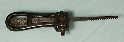Antique Unusual Adjustable Cast Iron Keyhole Saw Blade Holder Handle