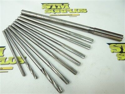 """Lot Of 10 Assorted Hss Chucking Reamers 5/32"""" To 31/64"""" Yankee Cleveland Cme"""