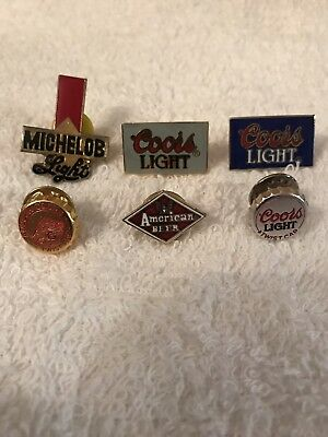 Vintage Beer Pin Lot Michelob American Coors