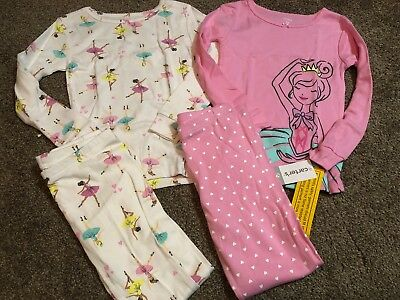 Carters Toddler Girl Pajamas Size 5T Nwt!