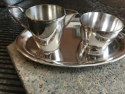 Fisher Silver  925 Creamer And Sugar Bowl Footed