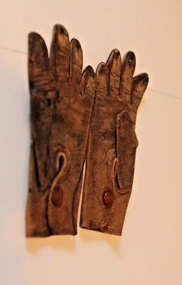 """Antique NORTHRUP Leather Gloves Childs Baby Toddler 5.25"""""""