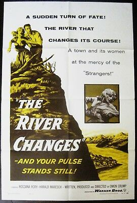 The River Changes 1956 Rosanna Rory Original US One Sheet Poster