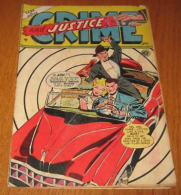 """January 1952 """"crime And Justice"""" Comic Vol.1 No.5 Issue Published By Law & Order"""