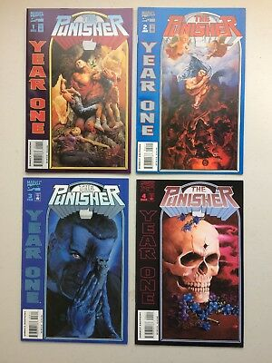 Punisher Year One #1 2 3 4 (1994-95) NM/MT 9.8 - PAINTED CLASSIC COVERS - NO RSV