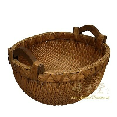 Vintage Chinese Hand Woven Willow Basket