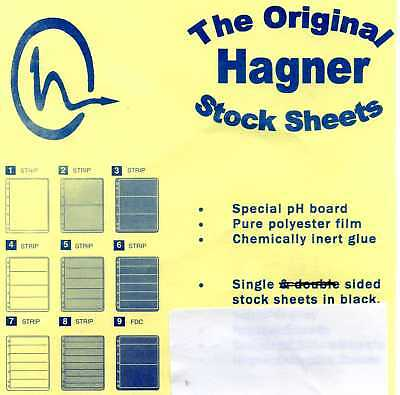 7 Hagner Stock Sheets - 3 Strip - Single Sided - Used