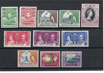 Basutoland 1933 and up good perf variety Elizabeth George British colony MLH