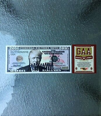 Donald Trump POTUS Signed Autographed 2016 Election Currency Bill Note MAGA