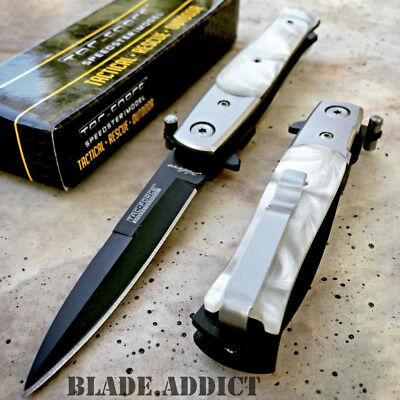 TAC FORCE MILANO STILETTO Tactical Spring Assisted Open Folding Pocket Knife-H