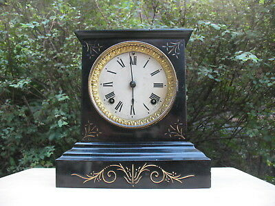 Antique Ansonia Mantel Clock Case Iron Case XFine & Working Cast Iron Original