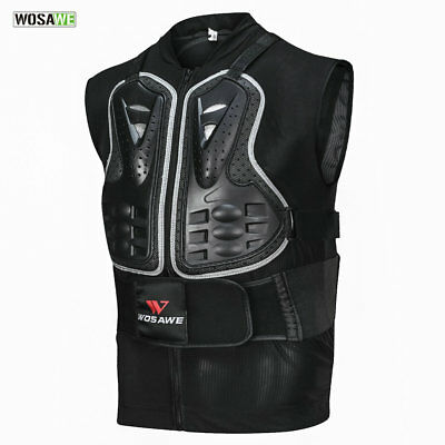 Motorcycle Motocross Armor Vest Protective Gear Chest Back Rider Guard Protector