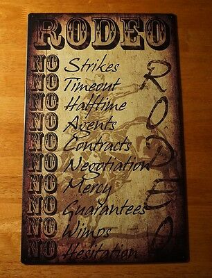 Rodeo Rules Cowboy Sign Country Primitive Style Horse Ranch Farm Home Decor NEW
