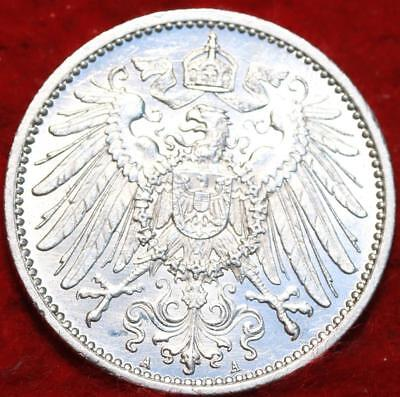 Uncirculated 1915-A Germany 1 Mark Silver Foreign Coin