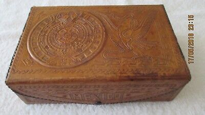 Nice Vintage Leather Box From Mexico