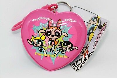Power Puff Girls Bubbles Buttercup Blossom Key Ring Chain Zipper Coin Purse NEW
