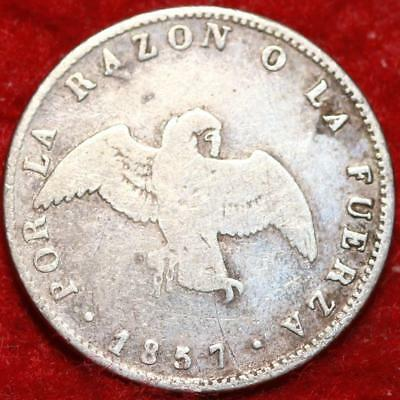 1857 Chile 1 Decimo Silver Foreign Coin