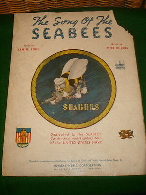 Wwii The Song Of The Seabees Song / Music Sheet