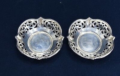 ANTIQUE RODEN BROS STERLING NUT DISHES - LOT OF 2 TOTAL WEIGHT 20 grams