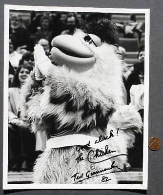 San Diego Chicken mascot Ted Giannoulas signed/autographed Indiana Pacers photo!