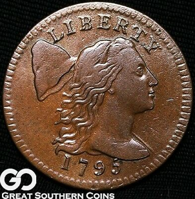 1795 Flowing Hair Large Cent, Gorgeous Coin, RARE This Nice, Stunning Coin!