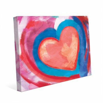 Swimming Pink Heart Wall Art Print on Canvas