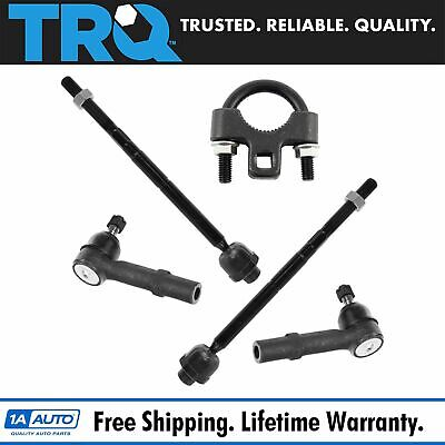 Front Inner & Outer Tie Rod End Set of 4 w/ Tool for Avalanche Silverado Sierra