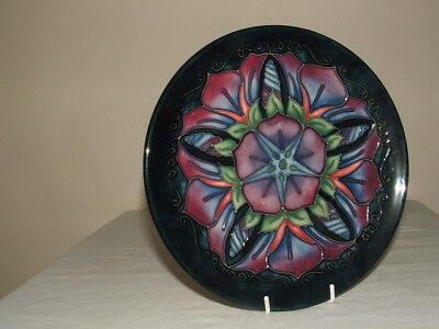 Moorcroft 1St Class Morning Glory Cabinet Plate  Truly Fabulous