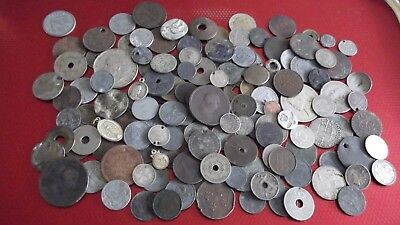 JOB LOT OF OLD COINS INCLUDING METAL DETECTING FINDS  99p MMDF K