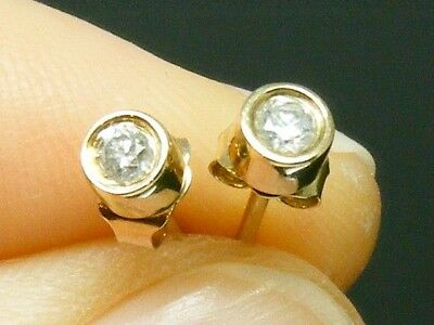 9K gold 9CT gold 0.20ct Diamond Solitaire Earrings