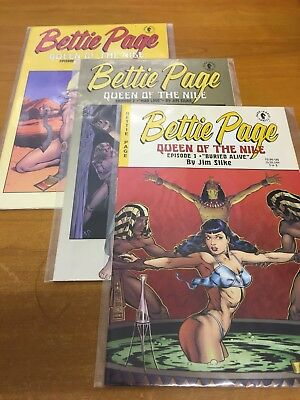 Bettie Page in Queen of the Nile 1, 2, & 3 by Jim Silke DHC (Used) 1999