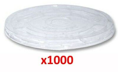 1000 x Insulated Polystyrene Lids For 7oz 20cl Cups 27-009 M2DC#