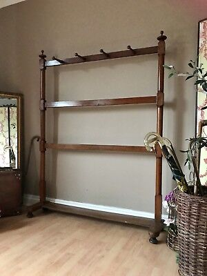 Antique Clothes Rail Coat Rack Large Hall Stand Altered & Repairs PICKUP NG23